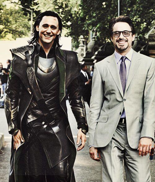 #RDJ and #tom hiddleston