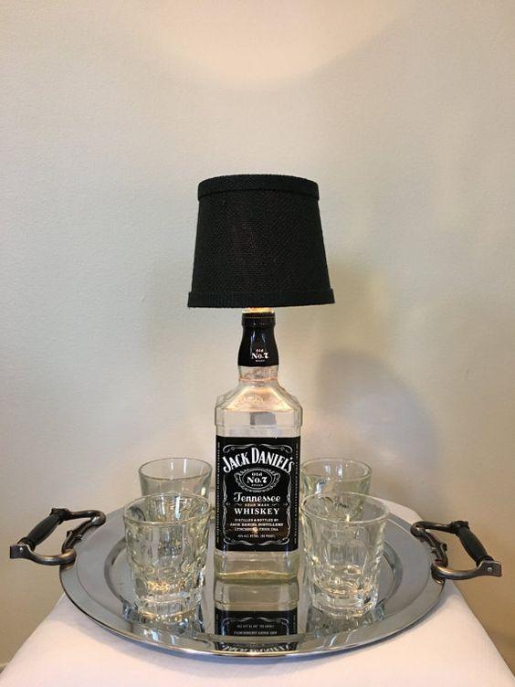 Jack Daniels Bottle Light by ShineBrightBottles on Etsy