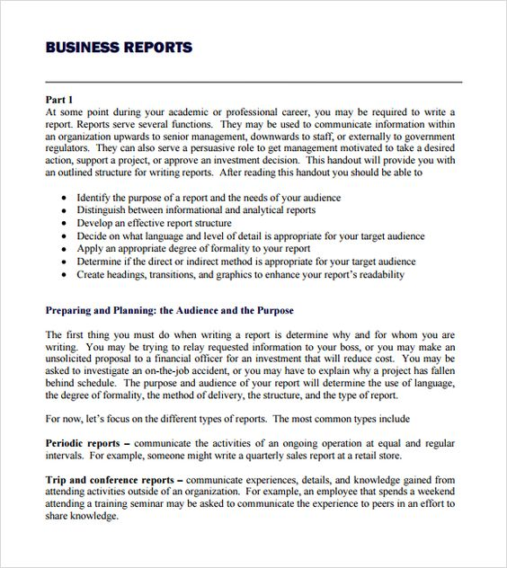 business report template writing word excel format for pokemon - incident report pdf