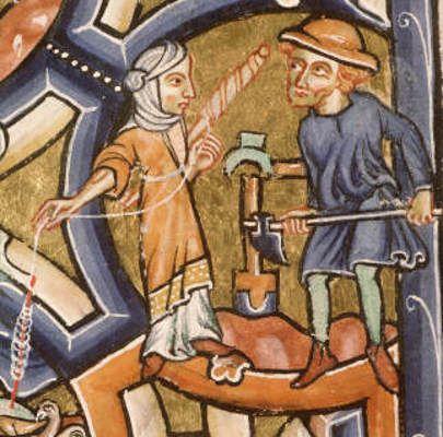 Paris St Geneviève, ms 0008, origine : Troyes, abbaye de St-Loup ?, 1185 - 1195Paris-StGenevieve-ms0008-007v-12-detail: