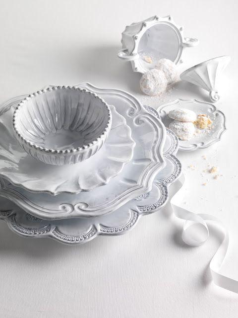 white vintage plates