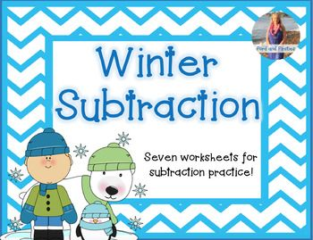 This resource includes winter themed subtraction worksheets. Solve ...