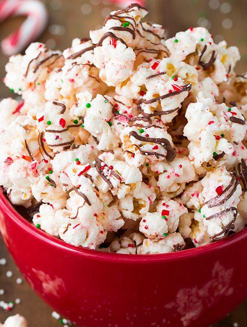 Bark Popcorn - its so easy and so good! Almond bark coated popcorn ...
