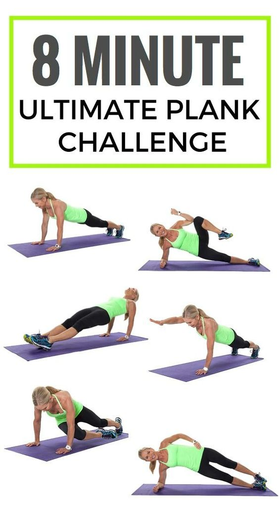 Amazing abs in 8 minutes a day with this plank challenge! #abworkout