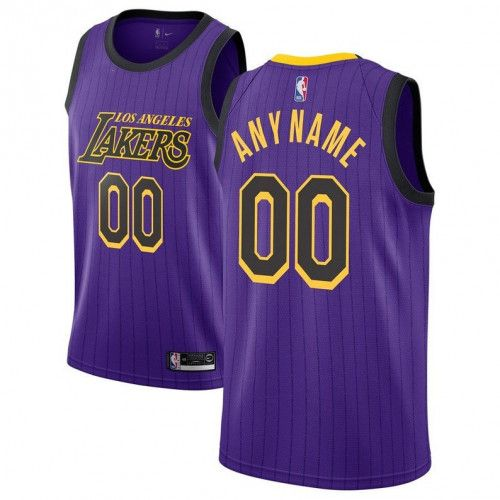 Custom Name and Number Los Angeles Lakers basketball jersey purple ...