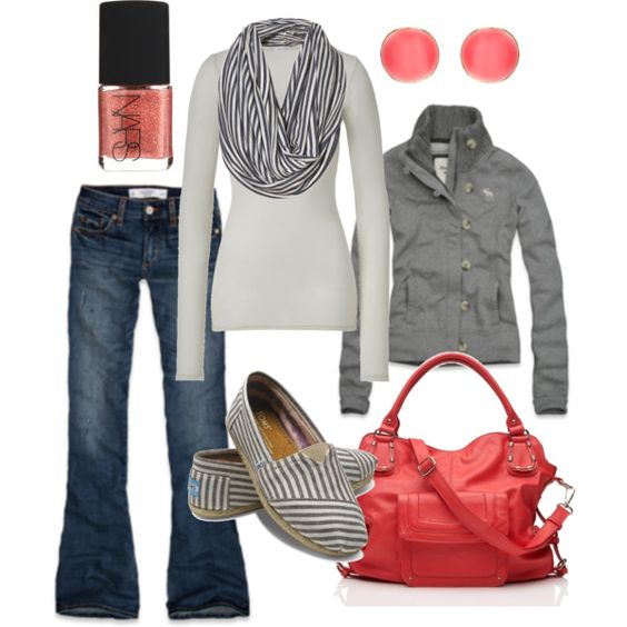 grey with pink accessories