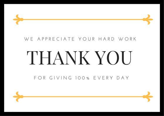 Employee Appreciation Thank You Note Employee Appreciation Quotes Thank You Quotes For Coworkers Employee Thank You