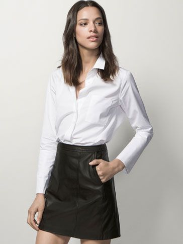LEATHER MINI SKIRT - Skirts - WOMEN - United Kingdom