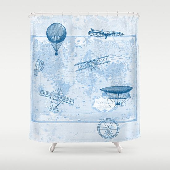 Airplane Shower Curtain   History Of Flight   Home Decor .