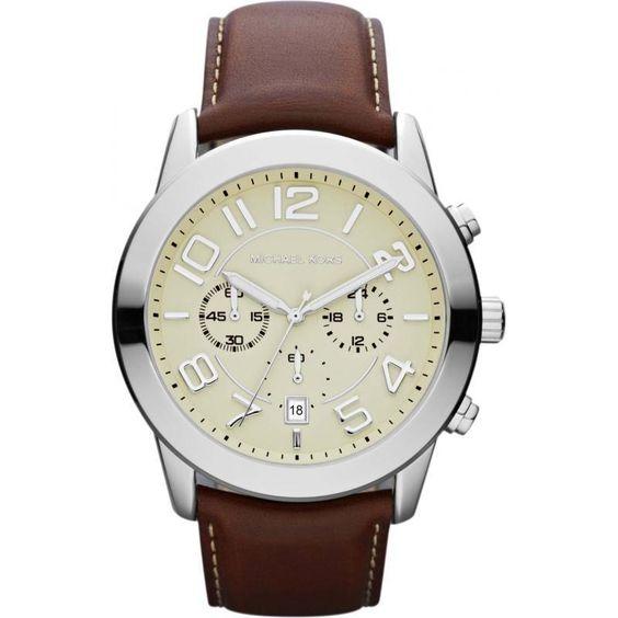 Michael Kors MK8292 Men's Chronograph Mercer Mahogany Strap Watch