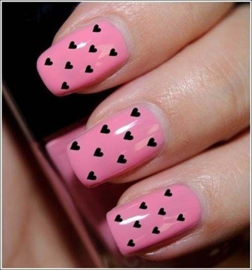 16 süße und schöne Valentinstag Ideen für das Nail Art Design #design #ideen #schone #valentinstag