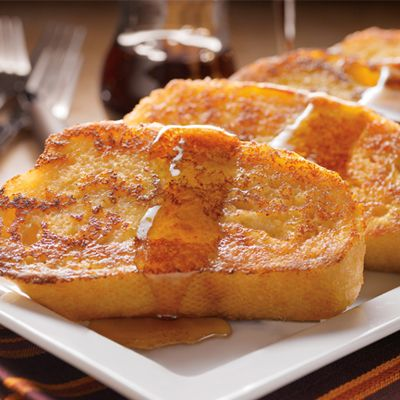 Eggnog-Spiced French Toast...sounds really good for Christmas morning:):