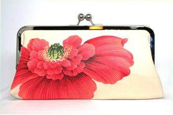 #BeeGee Bags - Sprung Up Coral #clutch http://www.beegeebags.com
