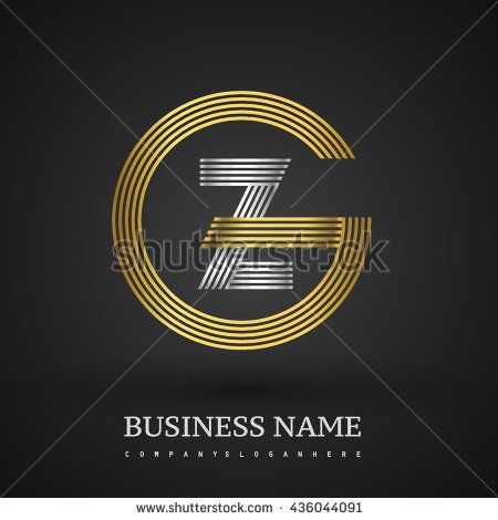Letter GZ or ZG linked logo design circle G shape. Elegant gold and blue colored letter symbol. Vector logo design template elements for company identity. - stock vector