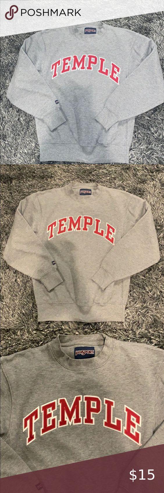 Unisex Temple Crewneck Sweatshirt Lightweight Long Sleeve Shirt Crew Neck Sweatshirt Sweatshirts [ 1692 x 564 Pixel ]