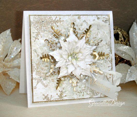 Graciellie design dreaming of a white christmas gilded for Elegant homemade christmas cards