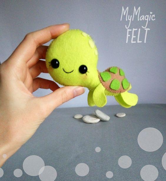 Adorno tortuga de fieltro animales de decoraciones infantiles fieltro decoraciones de animales tortugas vivero mar bajo el mar