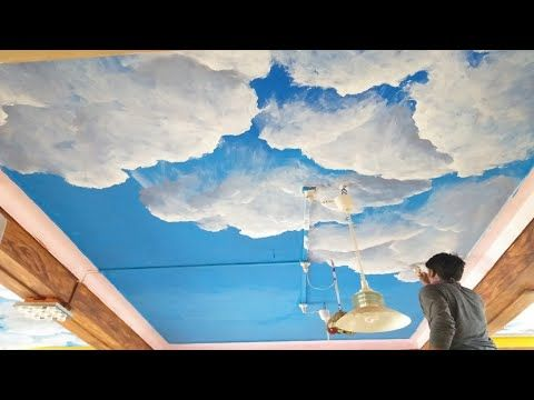 Wall Painting Clouds On The Ceiling Interior Designs Youtube Cloud Painting Diy Wall Painting Sky Ceiling
