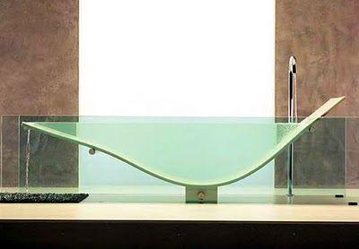 The Omvivo Le Cob glass and Corian Tub