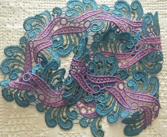Hey, I found this really awesome Etsy listing at https://www.etsy.com/listing/474190257/wide-lace-hand-dyed-scroll-design-venise