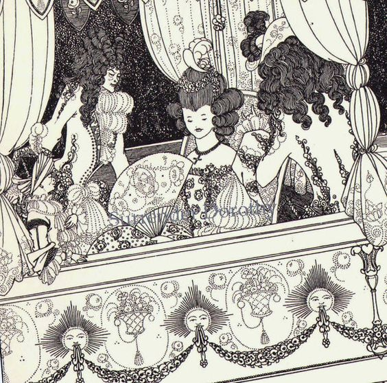 The Barge Aubrey Beardsley Rape Of The Lock by SurrenderDorothy