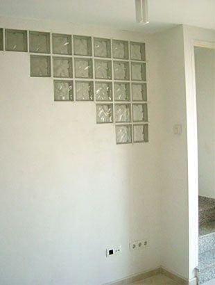 Reforma interior ladrillos vidrio pinterest - Pared de bloques de vidrio ...