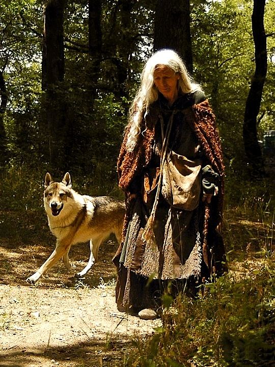 """the old woman talks to wolves,"" the villages mutter. she cackles, ""because they don't talk as much as you do."""