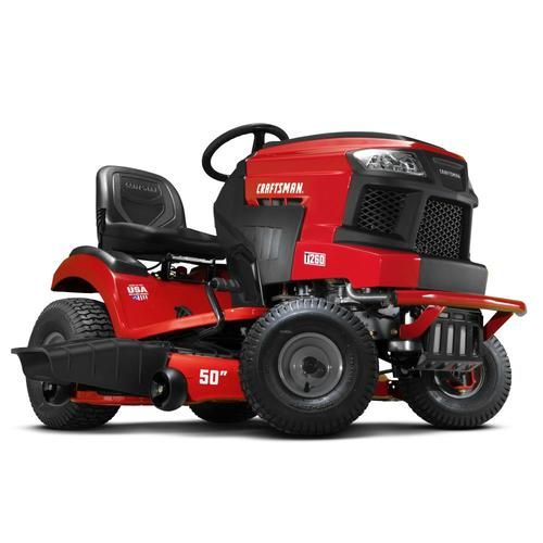 Craftsman T260 Turn Tight 23 Hp V Twin Hydrostatic 50 In Riding Lawn Mower With Mulching Capability Kit Sold Separately Lowes Com In 2020 Riding Lawn Mowers Lawn Mower Mulching