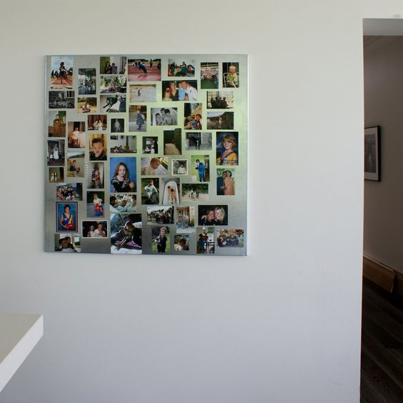Galvanised Magnetic Board #magnetic #framelessmemoboard #photoboard 'Wall Scrawl ~ changing the look of the whiteboard'