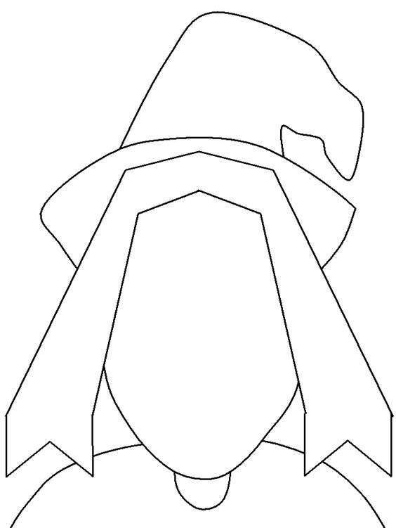 simple witch coloring pages - photo #34