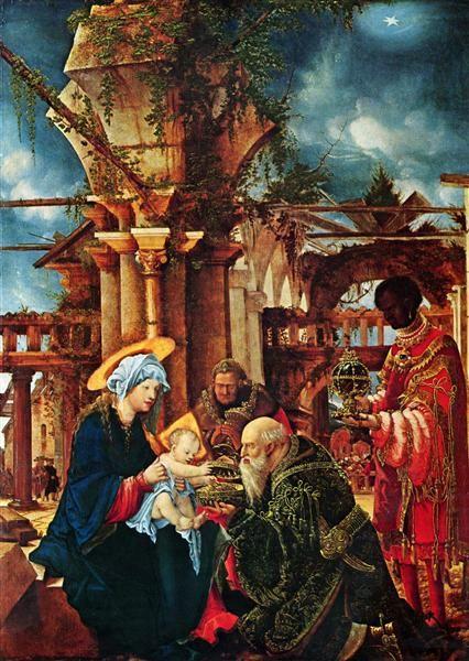 1530-1535 The Adorationof the Magi - Albrecht Altdorfer Titulo original: Die Anbetung der Heiligen Drei Könige