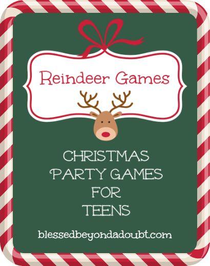 Printable Christmas Party Games for Teens Fiestas de navidad, Reno