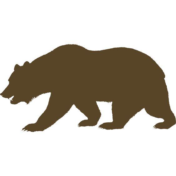 california bear outline   California Bear