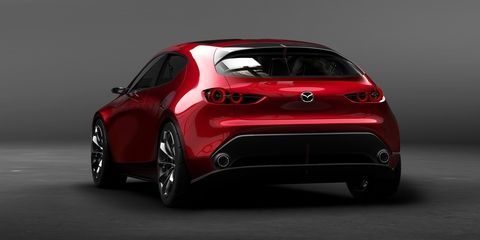 The Mazda Kai Concept Is A Gorgeous Preview For The Next Gen Mazda 3 Hatchback Tokyo Motor Show Mazda 3 Hatchback Concept Cars