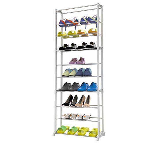 Homdox 30 Pairs 10 Tiers Shoe Organizer Shelf Space Savin Https Www Amazon Com Dp B0759g1tzw Ref Cm Sw R Cabinets Organization Shoe Rack Shoe Storage Rack
