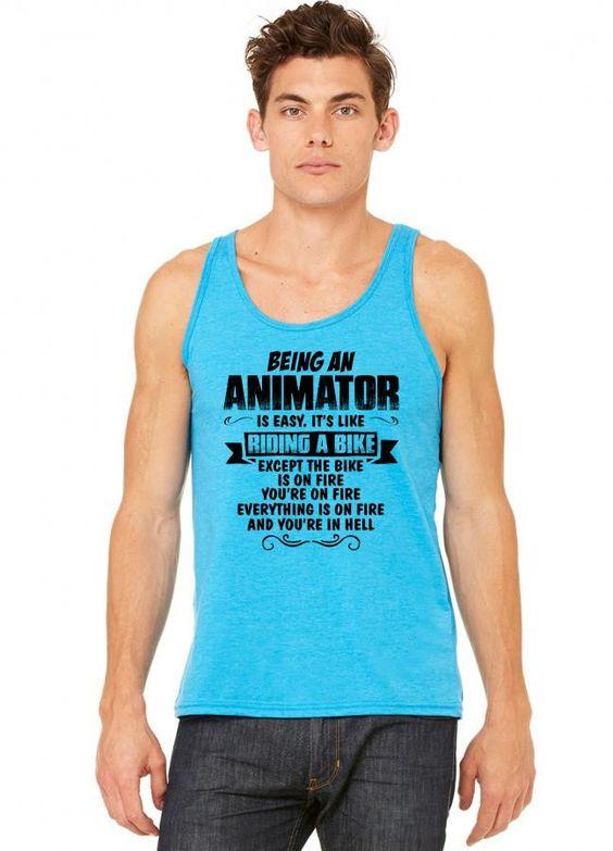 being an animator copy tank top