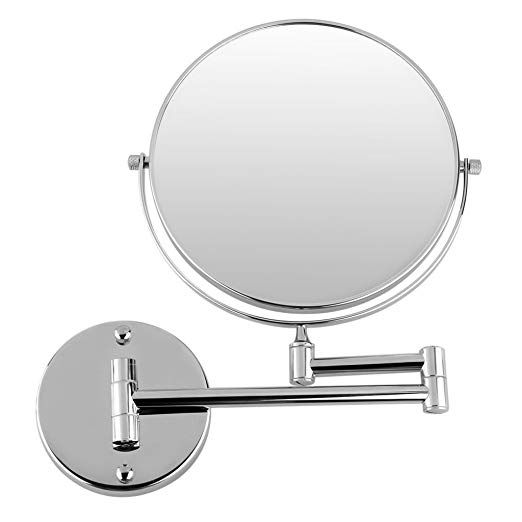 Gurun 8 Inch Two Sided Makeup Mirrors Dual Arm Wall Mount Mirror With 10x Magnification Chrome Finis Mirror Wall Wall Mounted Makeup Mirror Antique Mirror Wall