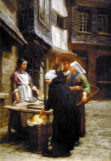Leon-Augustin L'hermitte (Leon Augustin L'hermitte), The Butter Market