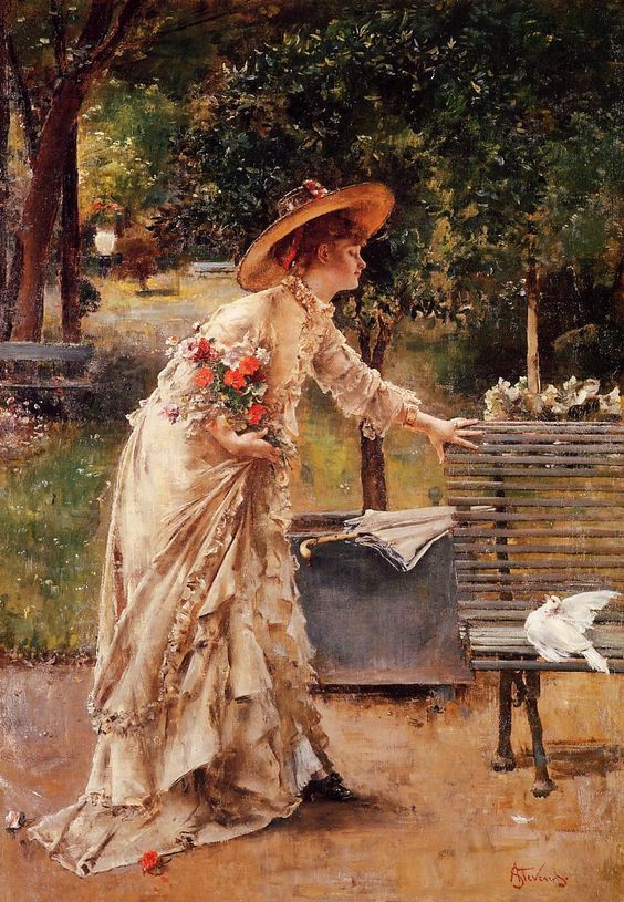 Art Renewal Center :: Alfred Stevens :: Afternoon in the Park: