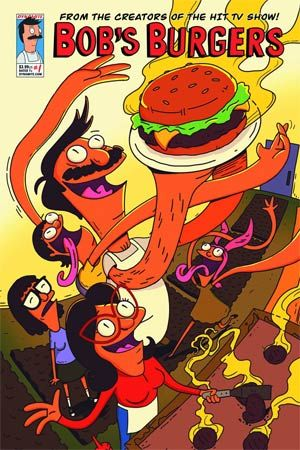 All right! The very first Bob's Burgers comic book, a new series from the creator of the hit TV show, created by Loren Bouchard! Now you can read about the Belcher family (parents Bob and Linda, and their children Tina, Gene and Louise) in brand-new in-canon stories created by the TV show's producers, writers and animators creating all original stories appearing exclusively in this comics series. Each comic includes hilarious installments of: 'Louise's Unsolved Mysteries,' 'Tina's Erotic ...