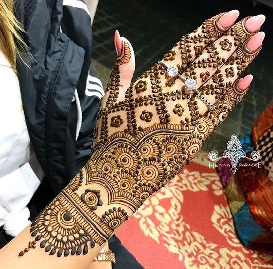 heavy mehndi designs for back hands