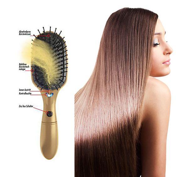DIE Innovation in der Haarpflege: Die Future Ionic Bürste mit aktiven Ionen verleiht ihrem Haar mit jedem Bürstenstrich Glanz und Geschmeidigkeit.   Sie ist bequem anzuwenden, passt in jede Handtasche und bändigt unerwünscht gekräuseltes und statische aufgeladenes Haar. Mit dem Ein-/Ausschalter dosieren Sie die Ionengabe ganz nach Ihren Bedürfnissen.  Den Unterschied werden sie unmittelbar sehen und fühlen: Ihr Haar wird glänzend und geschmeidig. #buerste #ionen #weltbild