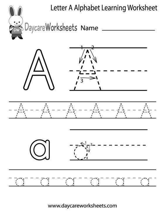 Free Letter A Alphabet Learning Worksheet for Preschool PLUS Lots ...