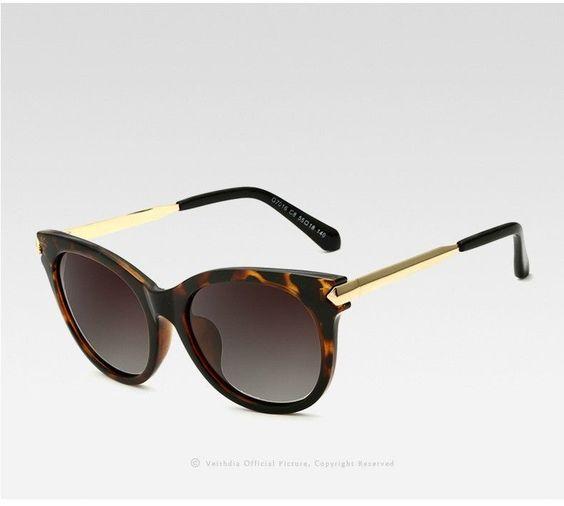 Gafas de sol para mujer marca VEITHDIA polarizados ojo de gato ...