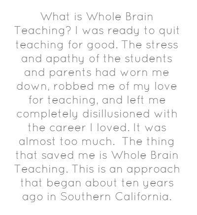 What is Whole Brain Teaching