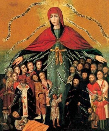 Icon 03050 Pokrova Bogorodicy. Seredina XVII v. Ukraina - Virgin of Mercy - Wikipedia, the free encyclopedia