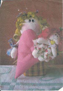 Moldes Para Artesanato em Tecido: Bonecas de Pano