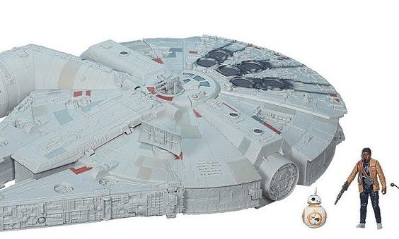 Star Wars: The Force Awakens Millennium Falcon Vehicle: ORDER HERE FREE SHIPPING! The Millennium Falcon returns in the Classic Kenner sizing with three exclusive action figures! Electronic light, sounds, and motion-activated engine effects. Opening storage areas for Nerf darts in the mandibles and a pop-out gunner station make this one of the most action-packed Star …