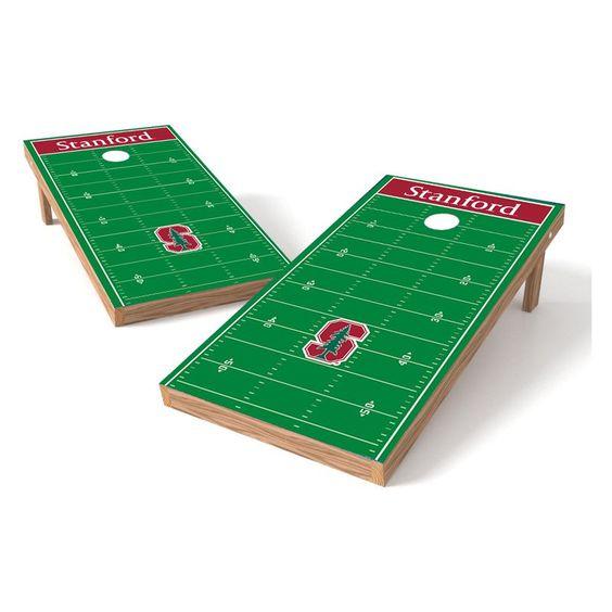 Wild Sales NCAA Football Field XL Shield Cornhole Set - XLS2C-STAN