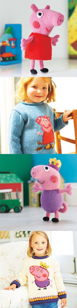 Knitting Patterns Peppa Pig Toys : Take a look at the Womans Weekly Peppa Pig knitting pattern collection ...